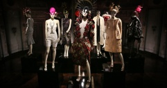 Clothes mostly by McQueen, hats by Philip Treacy